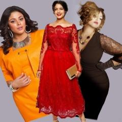 Новогодний выбор платья большого размера